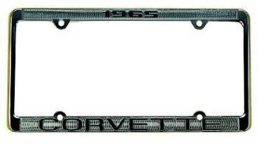 Corvette License Plate Frame, Corvette Chrome, 1964