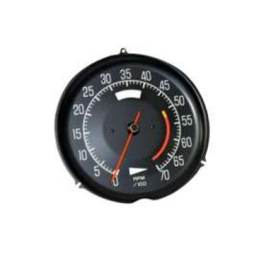 Corvette Tachometer, L48 5300 Red Line, 1975-1977