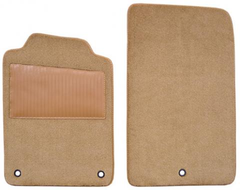 Chevrolet Corvette Floor Mat with Heel Pad 2pc (FM78W/HEEL) Truvette, Oak (91), 1998-2004
