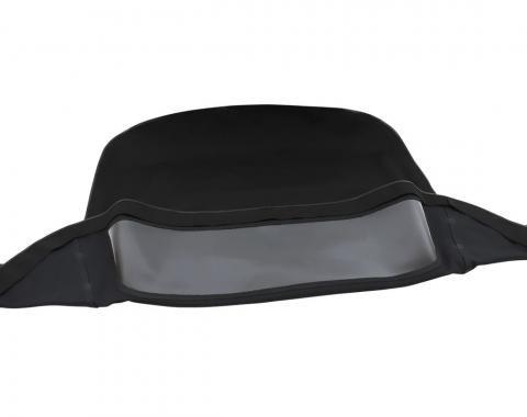 Corvette Convertible Top, Black Original Stafast, 1986-1993