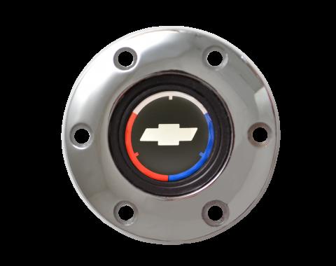Volante S6 Series Horn Button Kit, Tri Color, Chrome