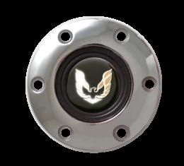 Volante S6 Series Horn Button Kit, Gold Firebird, Chrome