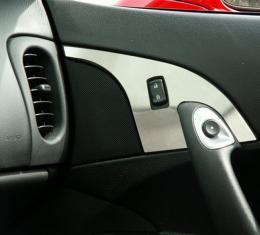 American Car Craft Chevrolet Corvette 2005-2013  Door Lock Trim Plate Satin 2pc 041022