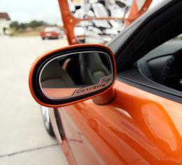 American Car Craft 2005-2019 Chevrolet Corvette Mirror Trim Side View Cross Flag Style Auto Dim 2pc GM Licensed 042087