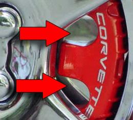American Car Craft Brake Pad Covers Polished 4-pc 032012