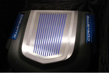 American Car Craft 2009-2013 Chevrolet Corvette Engine Shroud Cover ZR1 2pc Ribbed 043074