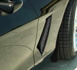 American Car Craft 2005-2013 Chevrolet Corvette Vent Grilles Laser Mesh Side 2pc C6 042053