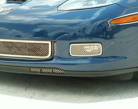American Car Craft 2005-2013 Chevrolet Corvette Air Dam Grilles Laser Mesh Z06 042045