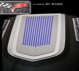 American Car Craft 2009-2013 Chevrolet Corvette Engine Shroud Cover ZR1 2pc Ribbed C6 Emblem (not included) 043077