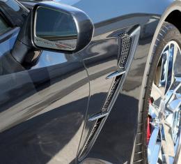 American Car Craft 2014-2019 Chevrolet Corvette Side Vent Grille Overlays Matrix Alumi-Steel 10pc 052009