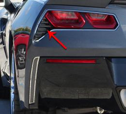 American Car Craft 2014-2019 Chevrolet Corvette Taillight Grilles Matrix Alumi-Steel Series 2pc 052006