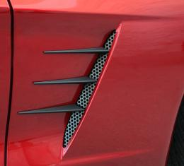 American Car Craft 2005-2013 Chevrolet Corvette Vent Spears w/Perforated Vents 8pc C6 Black Stealth 042114