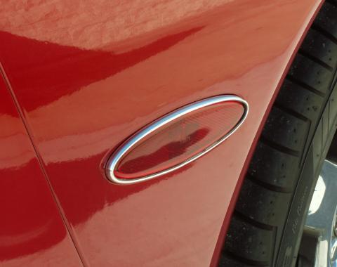 American Car Craft Side Marker Trim Chrome Molding Rear Side 2pc 032030