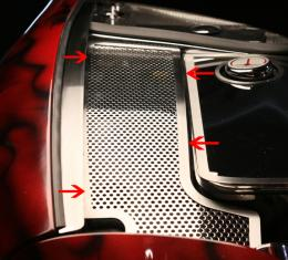 American Car Craft 1997-2004 Chevrolet Corvette Inner Fender Accent Plates Perforated 033071