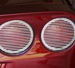 American Car Craft Chevrolet Corvette 2005-2013  Taillight Covers Billet Style 4pc 042068