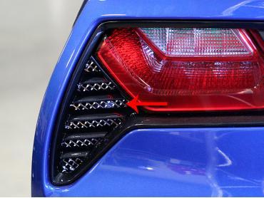 American Car Craft 2014-2019 Chevrolet Corvette Taillight Grilles Laser Mesh 2pc 052005