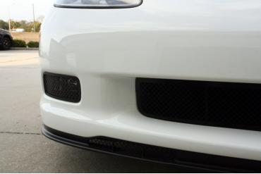 American Car Craft 2005-2013 Chevrolet Corvette Driving Light Covers Laser Mesh Black Stealth 2pc Z06 042106