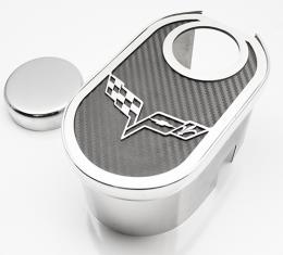 2005-2013 C6/Z06/GS Corvette - Master Cylinder Cover w/Crossed Flags Inlay & cap cover - CHOOSE COLOR 043131