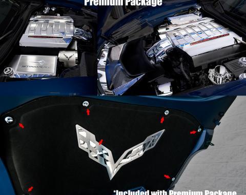 American Car Craft 2014-2019 Chevrolet Corvette Engine Decal 053104