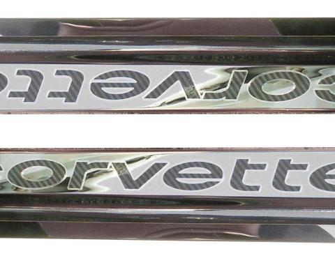 American Car Craft Doorsills Polished Carbon Fiber 2pc 011003-BLK