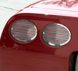 American Car Craft Taillight Grilles Polished Billet 4pc *5th Brake Light Not Included* 032045