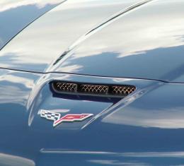 American Car Craft 2006-2013 Chevrolet Corvette Hood Vent Grilles Laser Mesh Z06 042057