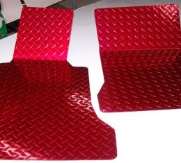 American Car Craft Chevrolet Corvette 2005-2013  Floor Mats Show Diamond Plate Red 041002