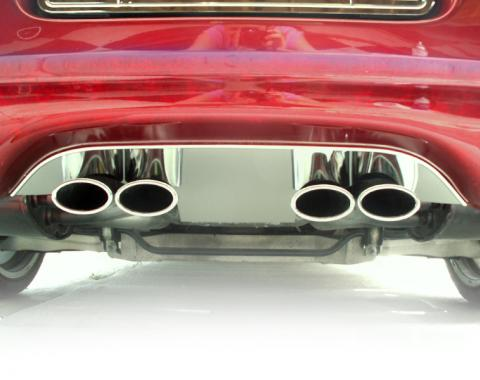 American Car Craft Chevrolet Corvette 1997-2004  Exhaust Filler Panel Polished Stock 032001