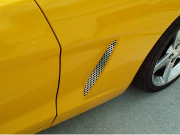 American Car Craft 2005-2013 Chevrolet Corvette Vent Grilles Perforated Side 2pc C6 042052