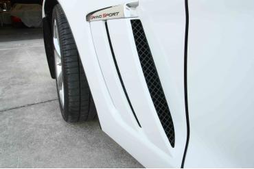 American Car Craft 2005-2013 Chevrolet Corvette Vent Grille Laser Mesh Side 6pc Front Black Powder Coat Stealth 042095