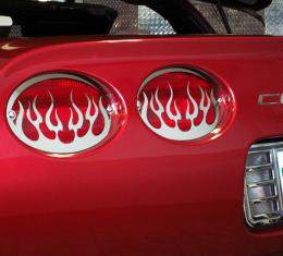 American Car Craft Taillight Grilles Polished Flame 4pc 032040