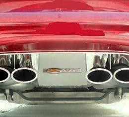 American Car Craft Exhaust Filler Panel Polished w/Z06 Emblem GM Licensed 032004