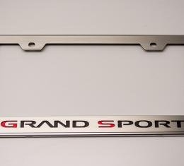 American Car Craft 1953-2017 Chevrolet Corvette Rear Tag Frame Grand Sport Logo GM Licensed 042132