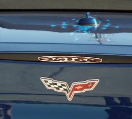 American Car Craft Chevrolet Corvette 2005-2013  5th Brake Light Trim Polished Flame Style 042071