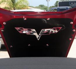 American Car Craft 2005-2013 Chevrolet Corvette Hood Badge Stainless Emblem fits factory hood pad 043113