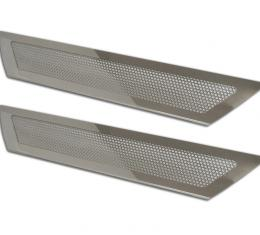 American Car Craft Doorsills Polished Perforated Stock 041042