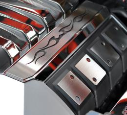 "2010-2015 Camaro - Polished Engine Cover Trim ""Tribal Flame"" - Custom Colors 103009"