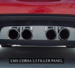 American Car Craft 2005-2013 Chevrolet Corvette Exhaust Filler Panel Corsa 3.5 Polished 042007