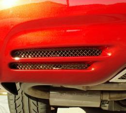 American Car Craft Chevrolet Corvette 1997-2004  Vent Grilles Laser Mesh Rear Bumper  2pc 032022
