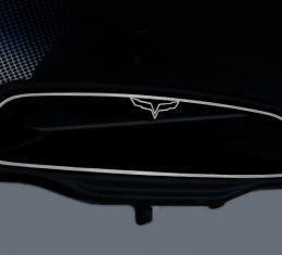 American Car Craft Chevrolet Corvette 2005-2013  Mirror Trim Rear View Crossed Flags Style Trim GM Licensed 041035