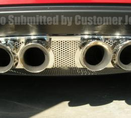 American Car Craft Chevrolet Corvette 2005-2013  Exhaust Filler Panel Corsa 3.5 Perforated 042008