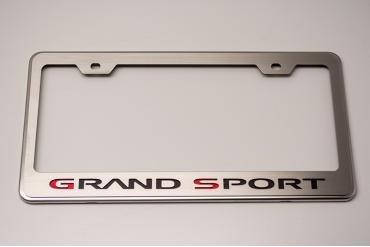 American Car Craft 1953-2017 Chevrolet Corvette Rear Tag Frame Grand Sport Logo GM Licensed 042132