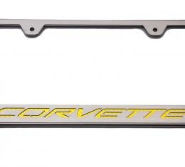 American Car Craft Rear Tag Frame Corvette Script 052033-SGRN