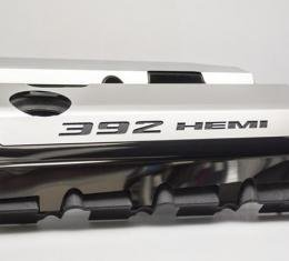 """Vinyl Inlay Style - SRT & SRT8 392 6.4L Polished Fuel Rail Covers with """"392 HEMI"""" Lettering 153024"""