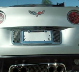 American Car Craft 2005-2013 Chevrolet Corvette Tag Frame Laser Mesh 042079