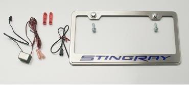American Car Craft Chevrolet Corvette 2014-2017  Rear Tag Frame Stingray Carbon Fiber Red 052032-RD