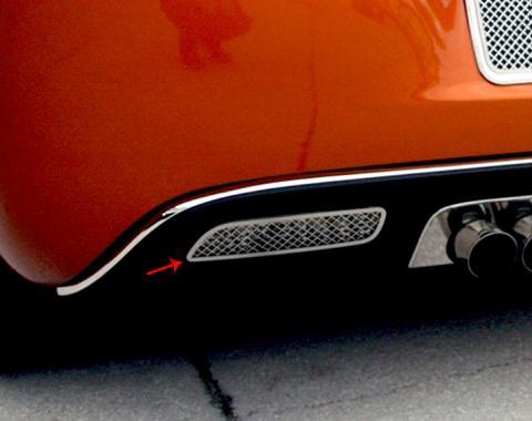 American Car Craft 2005-2013 Chevrolet Corvette Reverse Light Covers Laser Mesh 042060