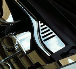 American Car Craft 2005-2013 Chevrolet Corvette Wiper Cowl Polished 2pc C6 08-13 043016