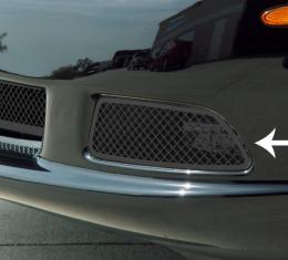 American Car Craft 2005-2013 Chevrolet Corvette Driving Light Covers Laser Mesh Black Stealth 2pc C6 042105