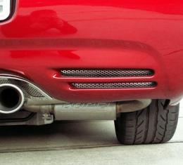 American Car Craft Vent Grilles Perforated Rear Bumper 2pc 032016